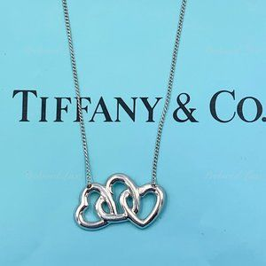 Tiffany & Co Silver Triple Open Hearts Necklace